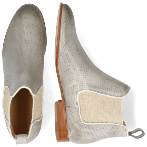 Ankle boots Sally 25 Imola Perfo Oxygen Elastic Lino
