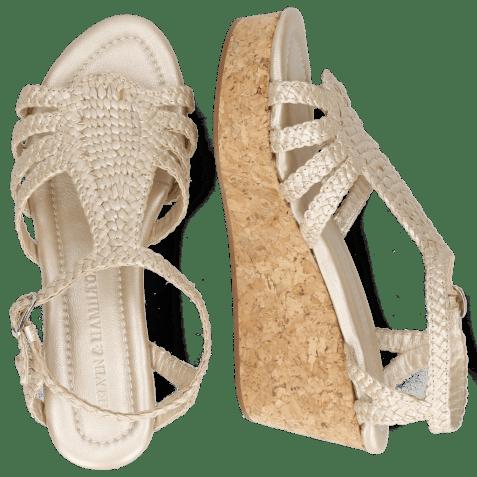 Sandals Hanna 55 Woven Pearl Cork