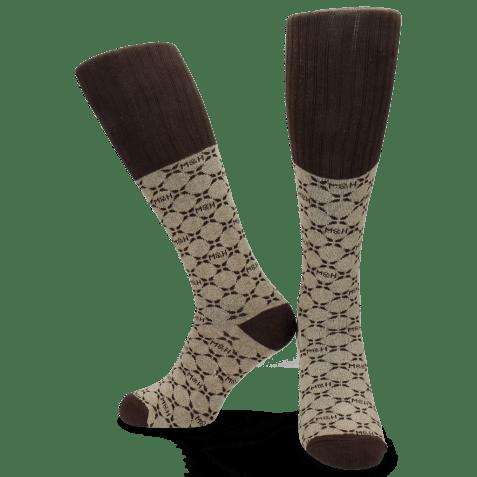 Socks Jamie 1 Knee High Socks Beige Brown