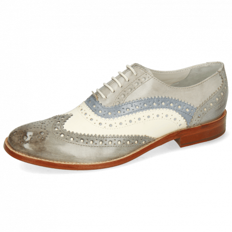 Oxford shoes Amelie 10 Vegas Grigio White Morning Grey Digital