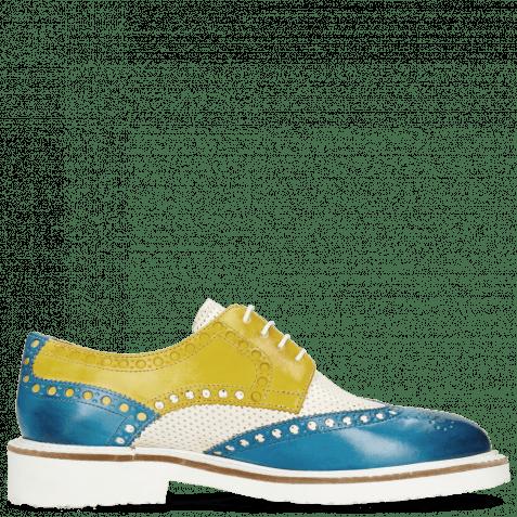 Derby shoes Blake 1 Vegas Mid Blue Perfo White Sun