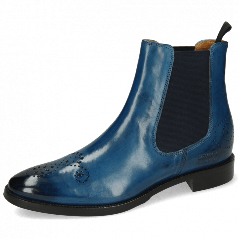 Ankle boots Betty 1 Mid Blue Elastic Navy