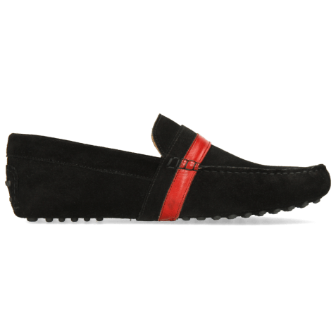 Loafers Nelson 6 Suede Pattini Black Ruby