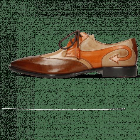 Derby shoes Elvis 63 Wood Cappuccino Winter Orange
