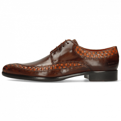 Derby shoes Toni 36 Woven Orange Mogano Mid Brown