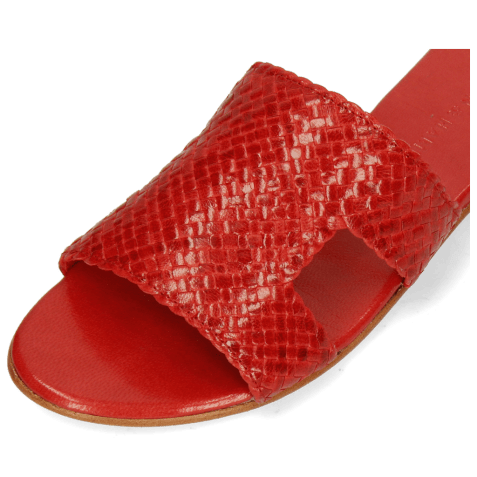 Mules Hanna 74 Woven Red Socks Foam