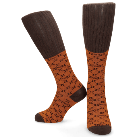 Socks Jamie 1 Knee High Socks Orange Brown