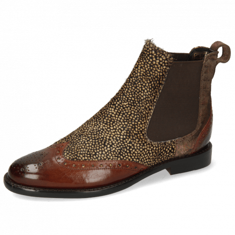 Ankle boots Selina 29 Brown Hairon Halftone Mogano Pitonis