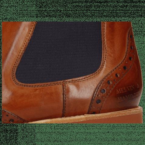 Ankle boots Amelie 5 Wood Elastic Purple Lining