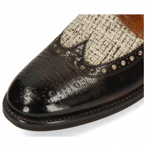 Derby shoes Clint 34 Guanna Espresso Textile Pixel Cedar
