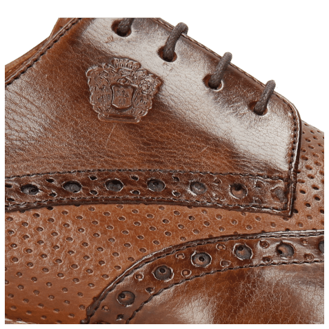 Derby shoes Martin 15 Berlin Mid Brown Perfo Wood