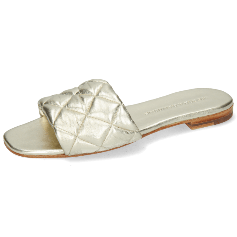 Mules Elodie 37 Nappa Platin Footbed Platin