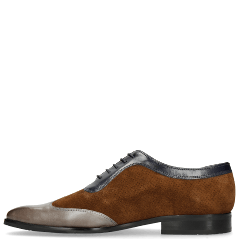 Oxford shoes Rico 8 Rio Stone Ciliago Suede Touch Perfo Navy