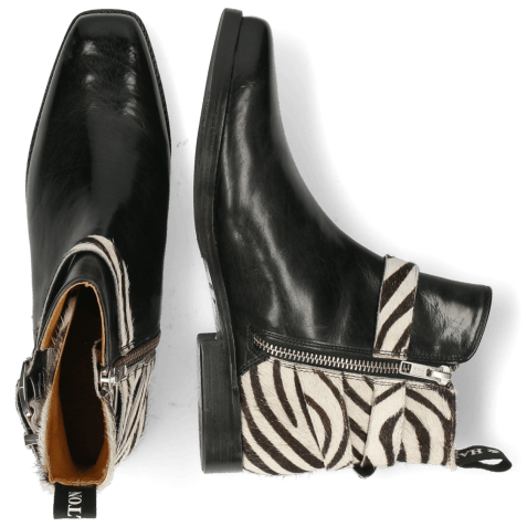 Ankle boots Bella 2 Black Hairon Zebra Sword