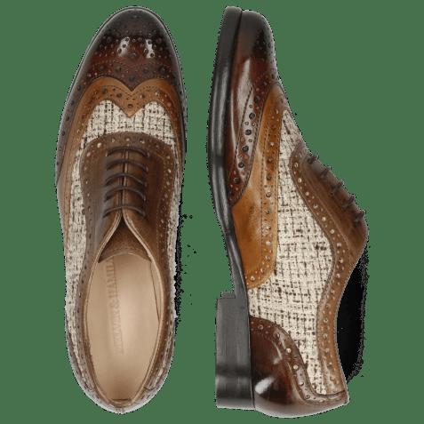 Oxford shoes Selina 56 Imola Mink Tortora Chestnut Textile