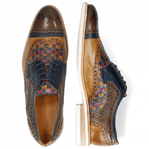 Derby shoes Henry 7 Stone Marine Sabbia Woven Multi