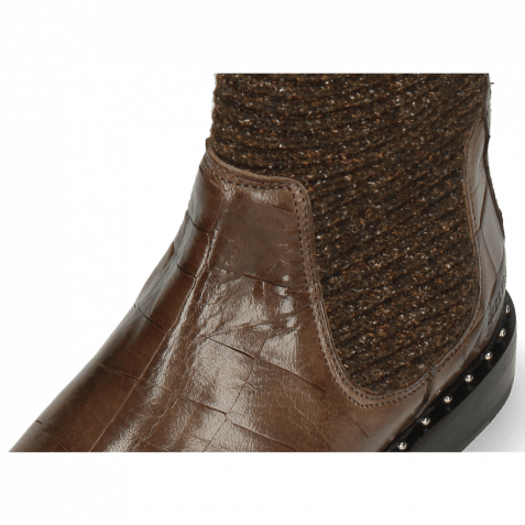 Ankle boots Susan 69 Turtle Stone Textile Brina Mokka