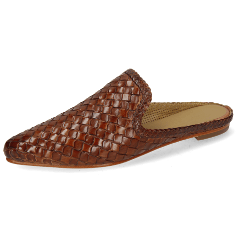 Mules Lydia 2 Woven Scale Tan Lining