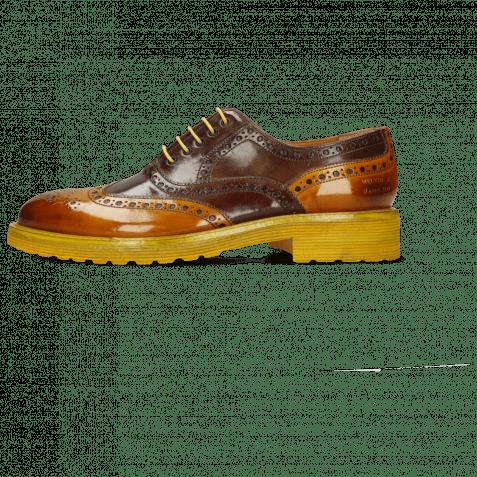 Oxford shoes Trevor 1 Yellow Dark Finishing Mink Chestnut