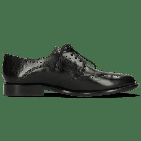 Derby shoes Selina 41 Black Lining Rich Tan Flex
