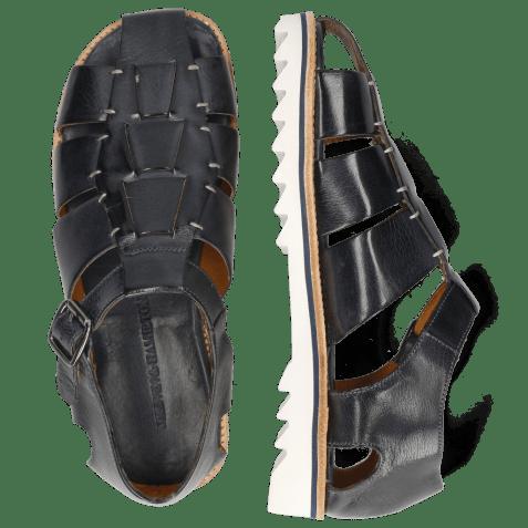 Sandals Sam 29 Classic Navy Hand Stitch White