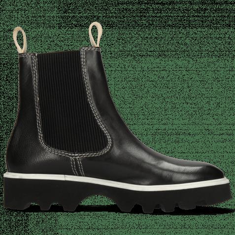 Ankle boots Sally 135 Imola Black Stitching White