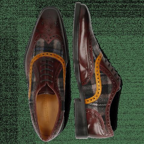 Oxford shoes Leonardo 21 Burgundy Textile Crayon Indy