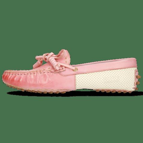 Loafers Caroline 8 Vegas Skin Perfo White