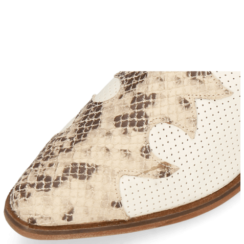 Ankle boots Marlin 47 Snake Sand Nubuck Perfo Cream