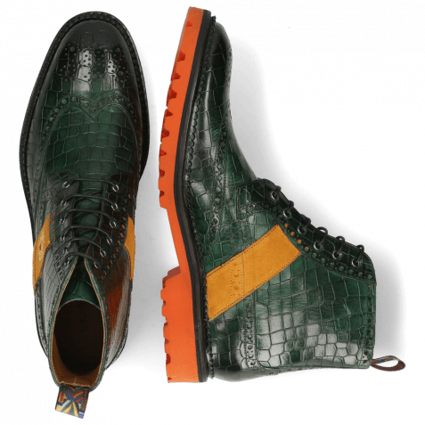 Ankle boots Eddy 26R Crock Pine Strap Suede Orange