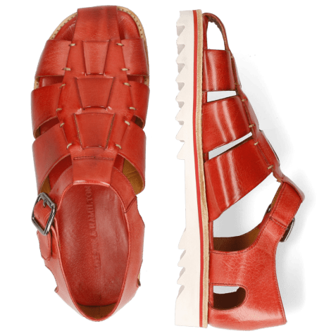 Sandals Sam 29 Classic Ruby Hand Stitch White