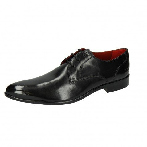 Derby shoes Toni 1 Black Lining Red