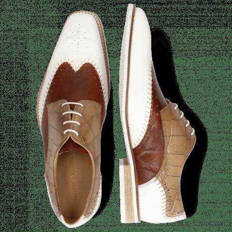 Derby shoes Clark 1 Rubber White Tan Turtle