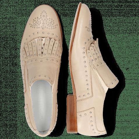Loafers Sally 95 Nappa Glove Ivory Hairon Wildcat