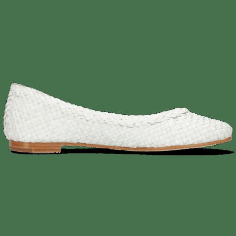 Ballet Pumps Kate 5 Woven White