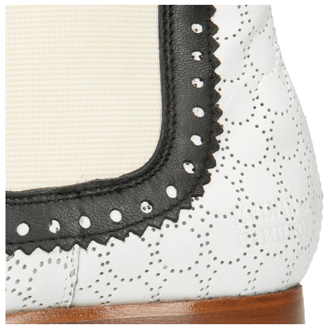 Ankle boots Sally 128 Nappa Glove Black Perfo White