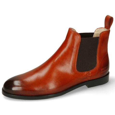 Ankle boots Susan 10 Winter Orange Elastic Dark Brown