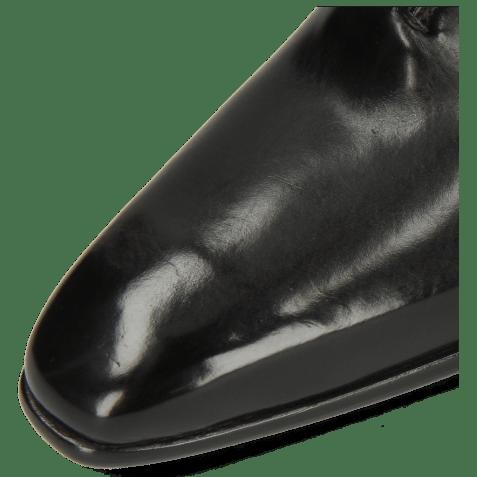 Oxford shoes Lance 61 Spector Big Croco Patina Black Bluette