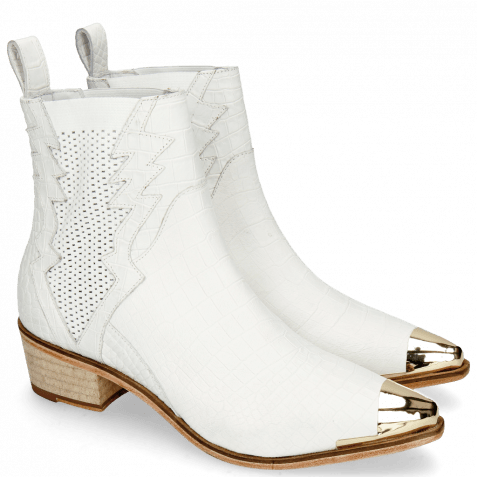 Ankle boots May 1 Nappa White Toe Cap
