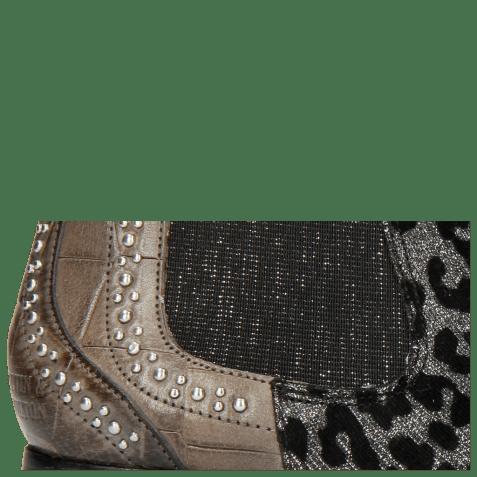 Ankle boots Sally 45 Turtle Grigio Leo Glitter Gunmetal