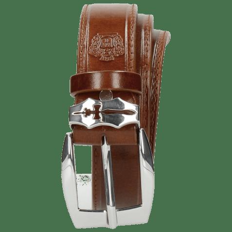 Belts Larry 1 Mid Brown Sword Buckle