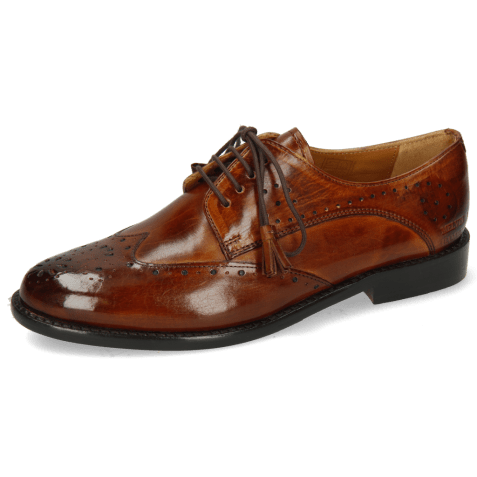 Derby shoes Selina 41 Wood Lining Rich Tan