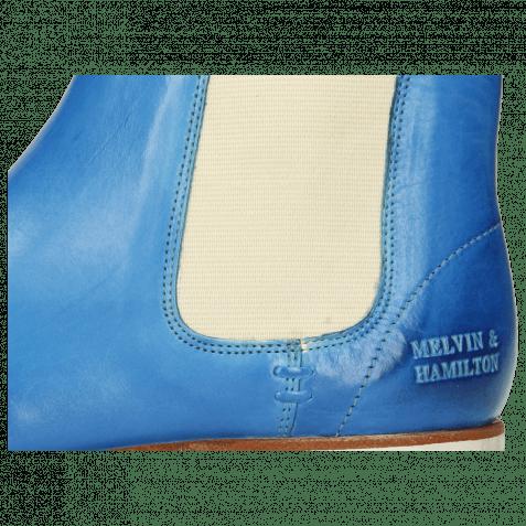 Ankle boots Susan 10 Vegas Bluette Elastic Off White