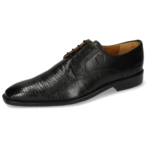 Derby shoes Xabi 3 Venice Lizzard Black M&H Rubber Navy
