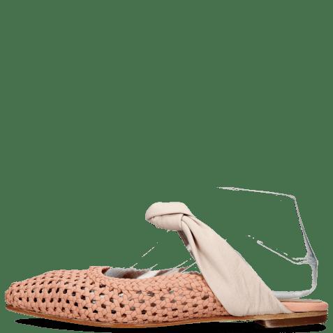Mules Alexa 15 Woven Rose Glove Nappa