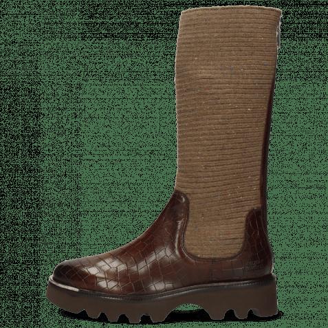 Boots Elena 9 Vegas Crock Dark Chocolate Brown