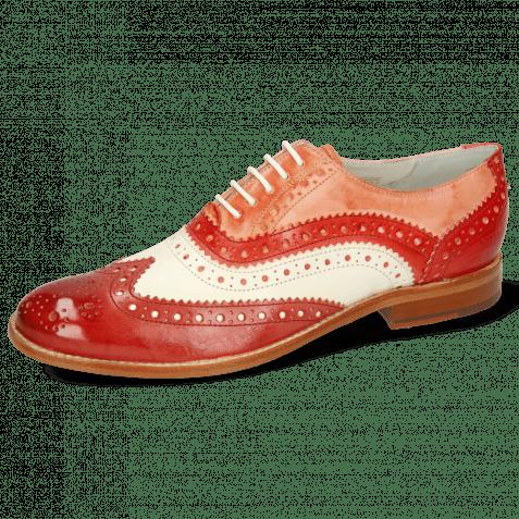 Oxford shoes Amelie 10 Vegas Rubino White Fiesta Earthly Rio Red