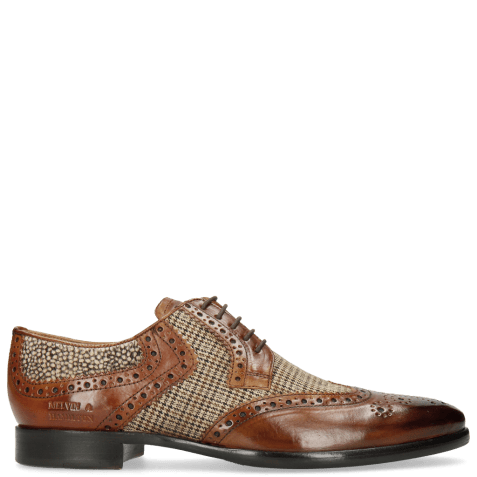 Derby shoes Clint 19 Wood Textile English Hairon Halftone