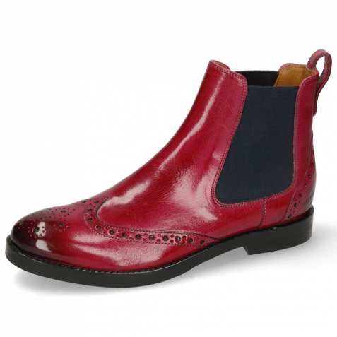 Ankle boots Amelie 5 Classic Dark Pink Elastic Navy
