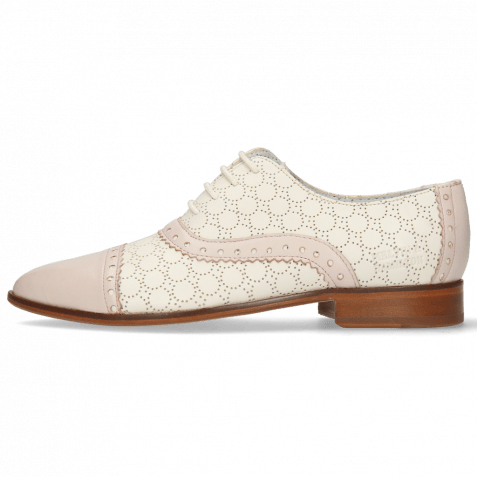 Derby shoes Jessy 54 Nappa Pink Sky Cream Perfo White